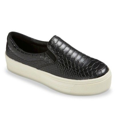 Women's Dedra Platform Slip-on Flats - Black