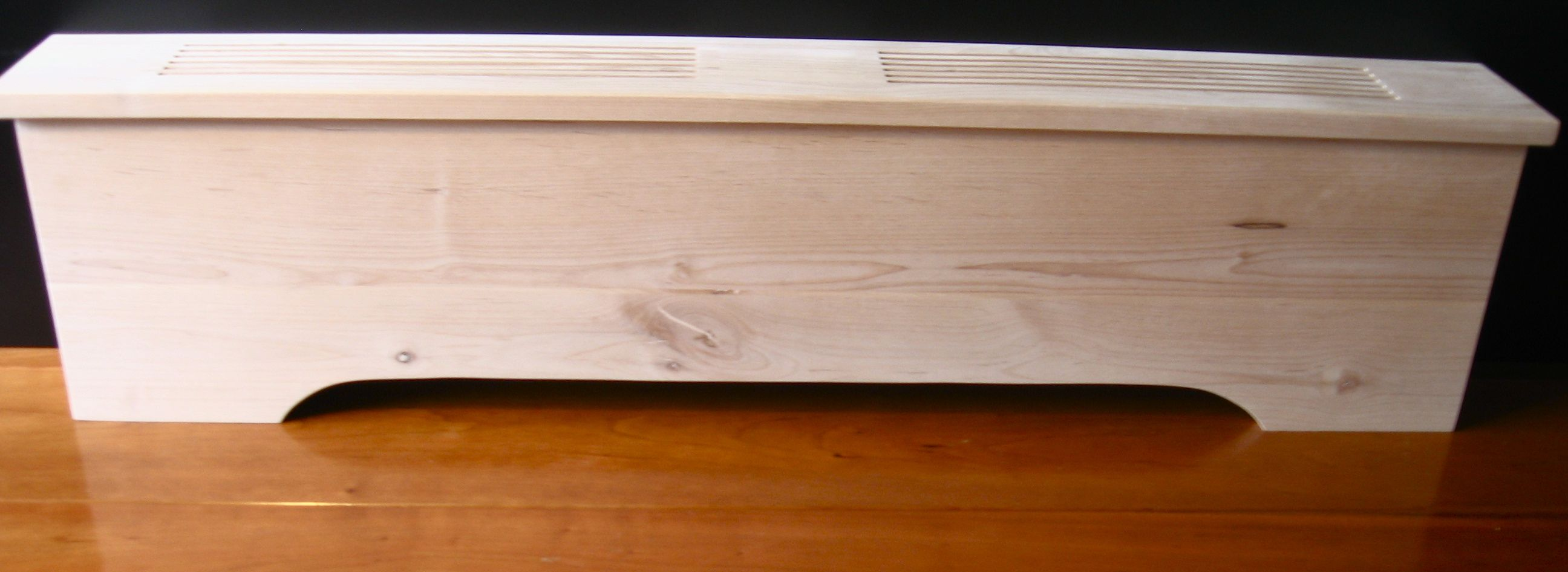 Wooden Baseboard Heater Cover Get Rid Of The Rusty Metal
