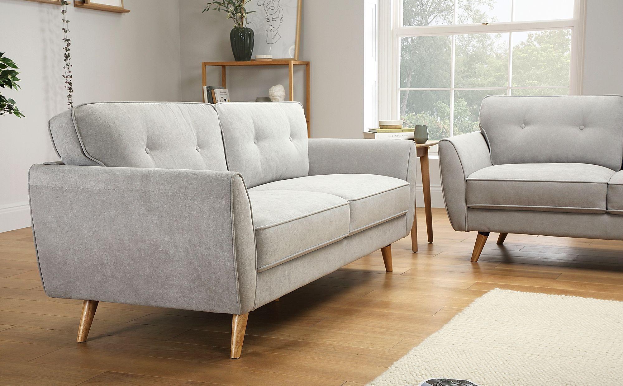 Harlow Dove Grey Plush Fabric 3 Seater Sofa Furniture Choice In 2020 Sofa Furniture Furniture Choice Seater Sofa