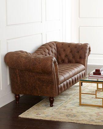 Oak+Leather+Recamier+Sofa+at+Neiman+Marcus.