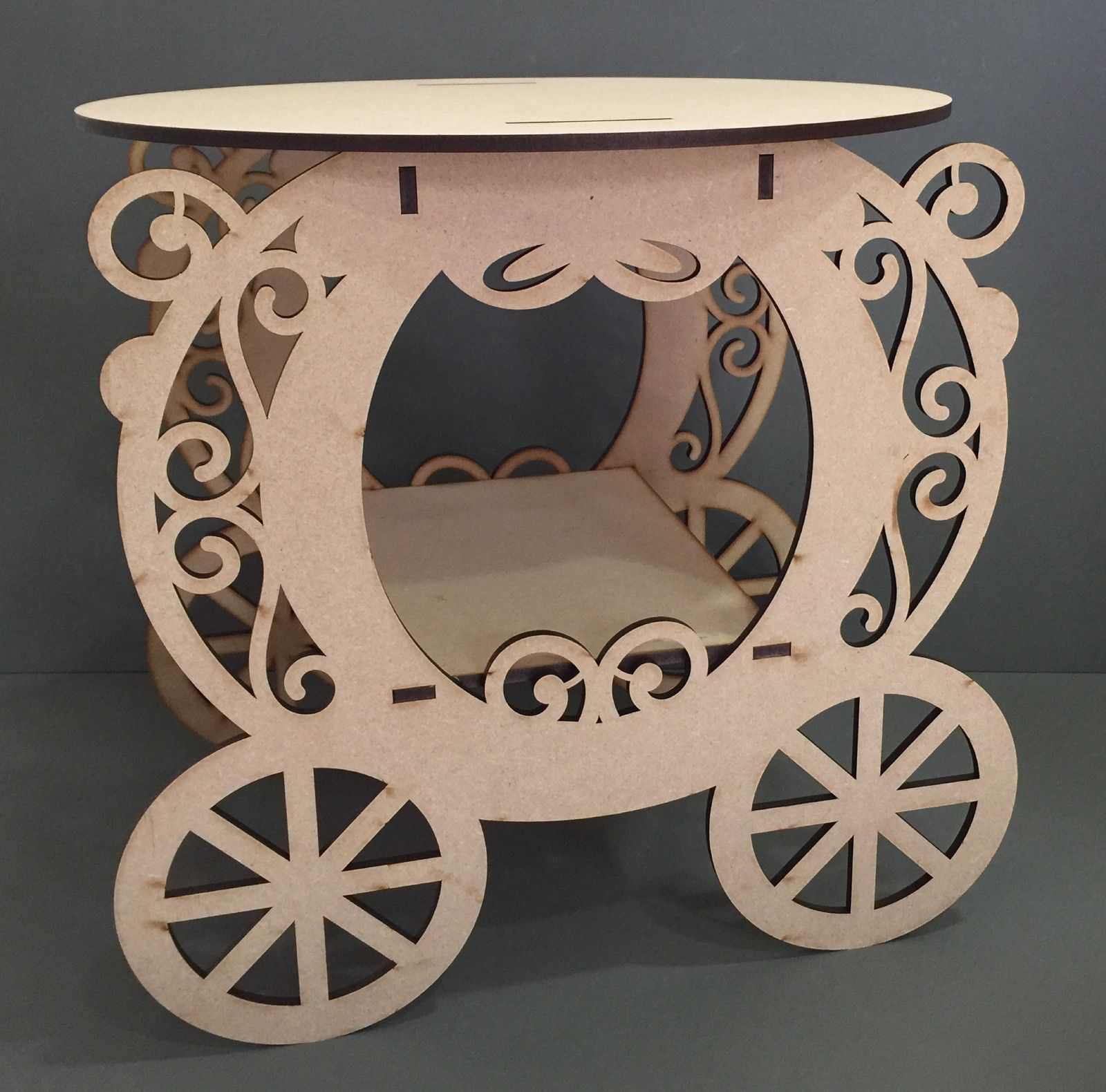Y xl girls princess carriage wedding cake stand candy sweet cart
