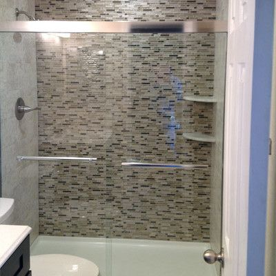 Shower Remodel Glass Tiles Design Decorating 413425 Bathroom Ideas .