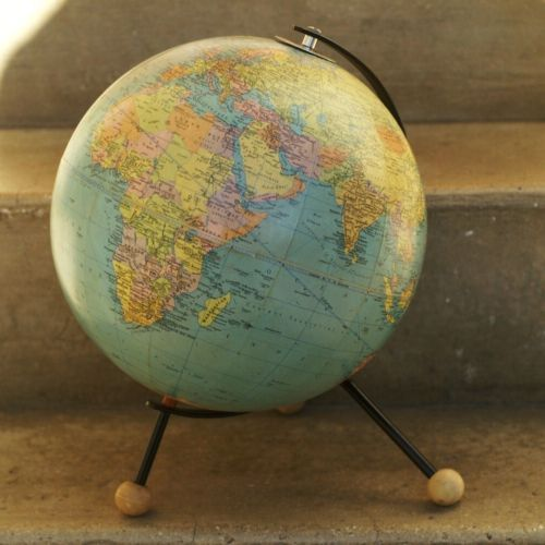 ancien globe terrestre mappemonde cartes taride annee 1963 mappemonde earth pinterest. Black Bedroom Furniture Sets. Home Design Ideas