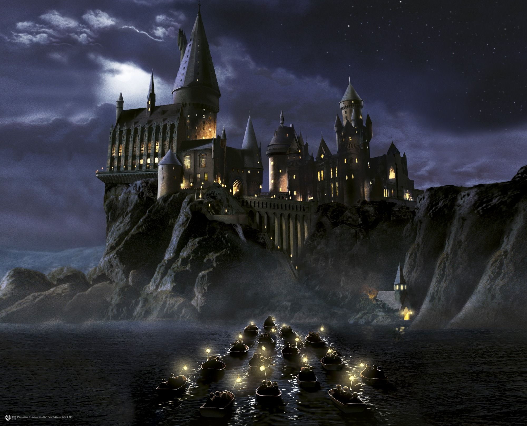 First time to hogwarts wall mural cyd s room pinterest - Hogwarts at night wallpaper ...