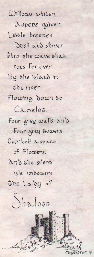The Lady Of Shalott Poem Scifi And Fantasy Art The Lady Of Shalott
