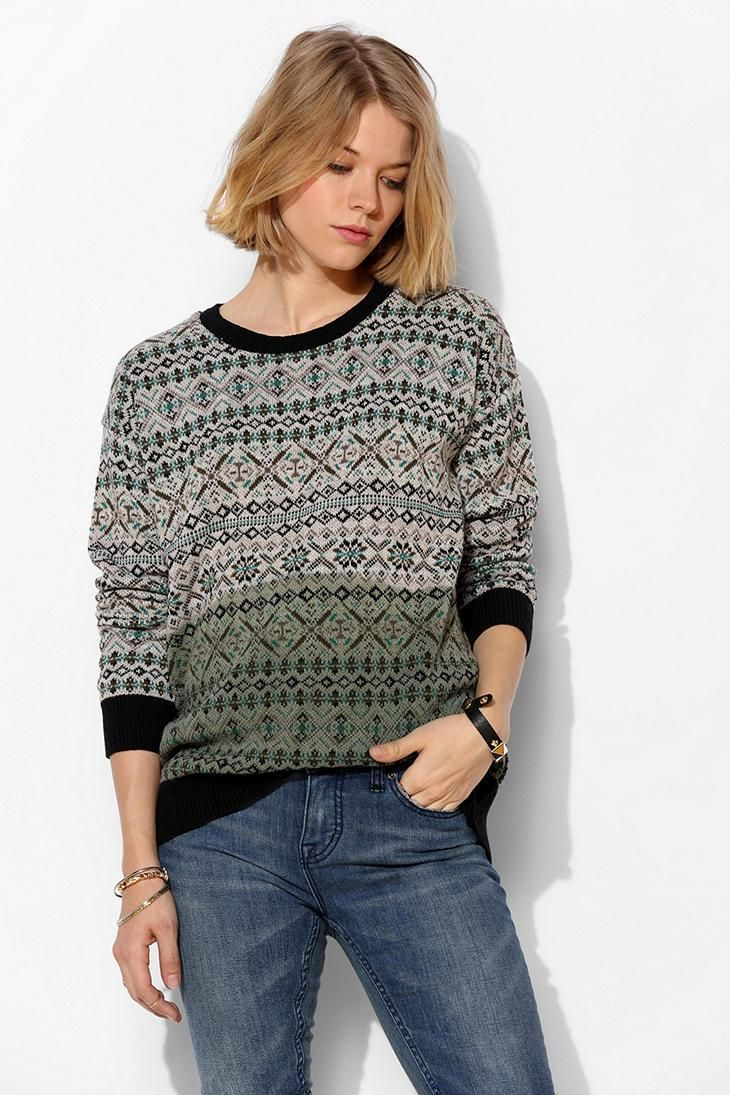 Coincidence & Chance Ombre Fair Isle Sweater #urbanoutfitters | UO ...