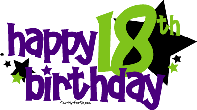 Happy 18th Birthday Graphics And Comments Card Sayings 18th Birthday Happy 2nd Birthday