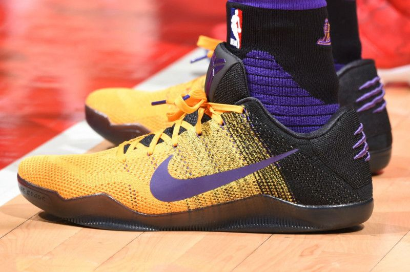 hot sale online da30a f468c Nike Kobe 11 Black Yellow-Purple PE