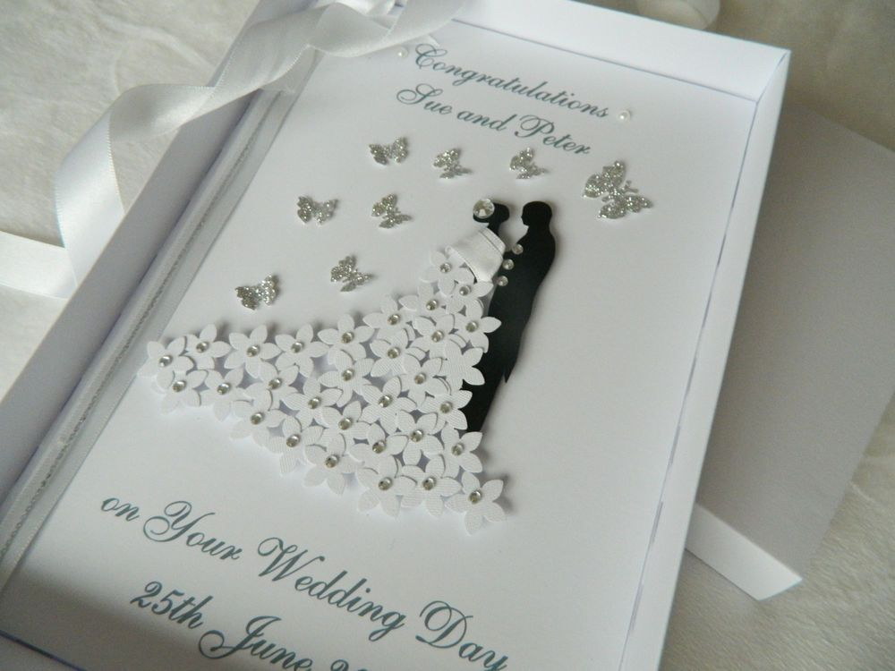 Handmade Cards For Wedding Day