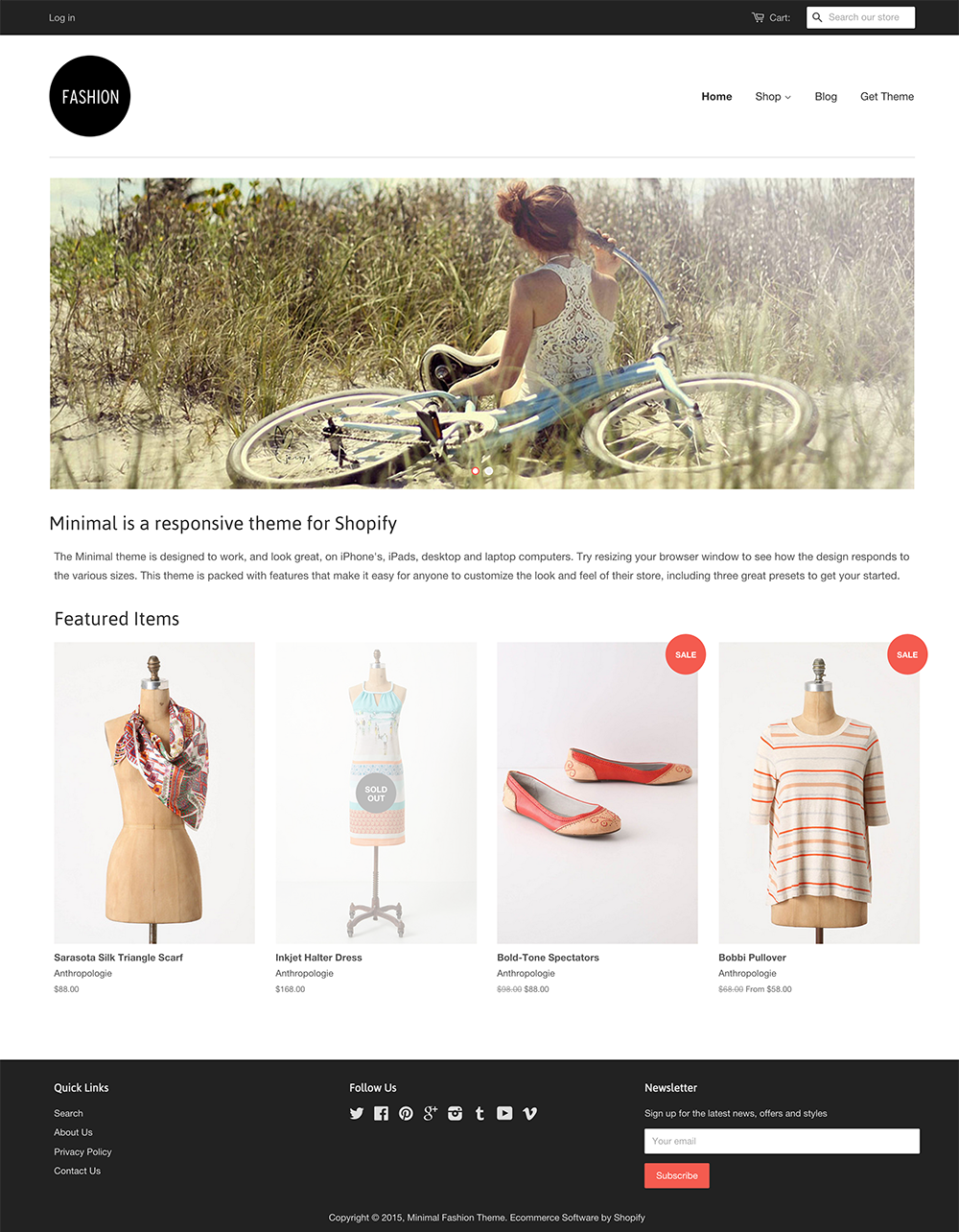 Shopify Free Theme Minimal Websites Pinterest Website