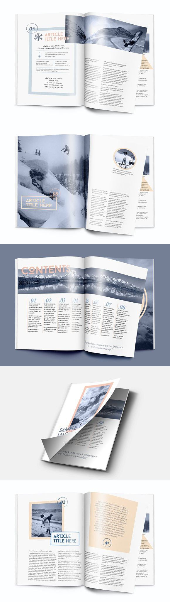 Magazine template - A4 - Indesign | Diseño editorial, Editorial y ...
