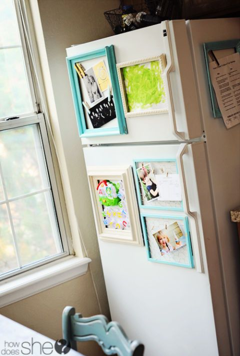 Inventive Ways to Display Your Kids\' Art | Pinterest | Magnetic ...