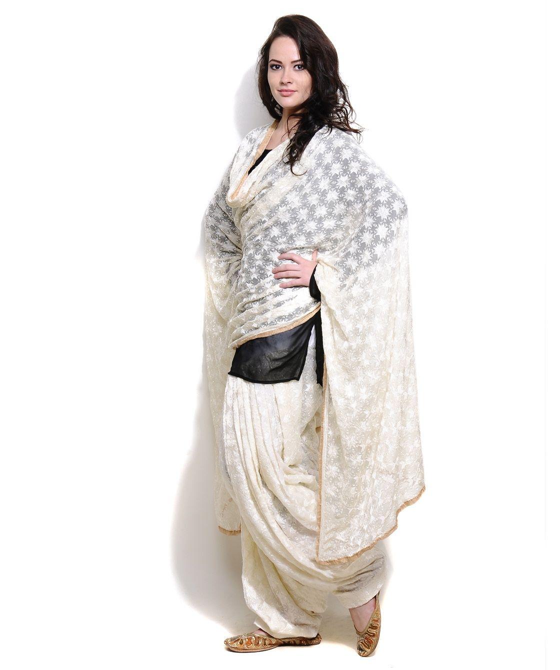 fcc26ec0da Phulkari Patiala Salwar-Kurti & Dupatta most comfortable dress..patiala