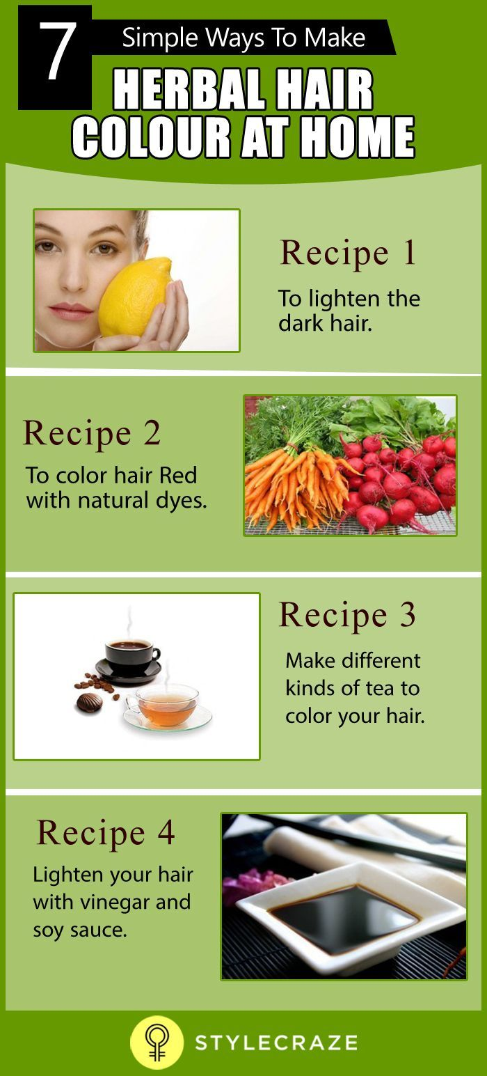 6 Simple Ways To Make Herbal Hair Color At Home