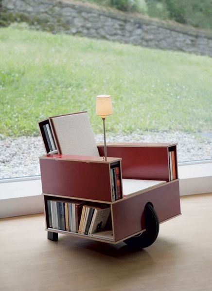 Book Chair Fucking Design Pinterest Bed Room Tables And Bricks - Bookchair combined with bookshelf
