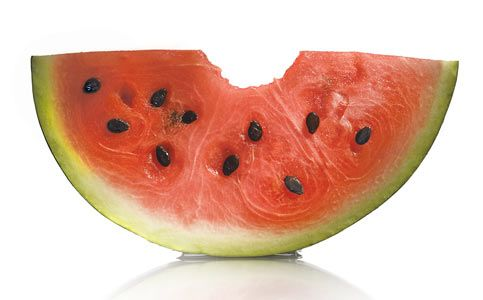 Watermelon: satisfies sweet cravings, revs up metabolism to help with weight loss, high alkaline producing fruit to combat diseases, low calorie.  Super snack foods.