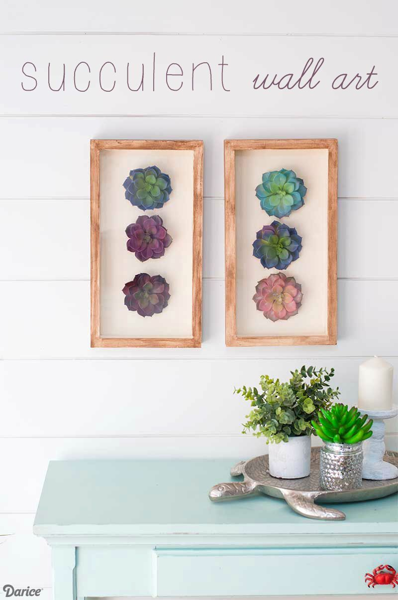 Diy succulent decor coordinating wall art set darice decordiy