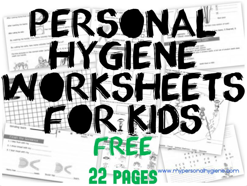 Personal Hygiene Worksheets For Kids - For Kids - 3 levels of ...