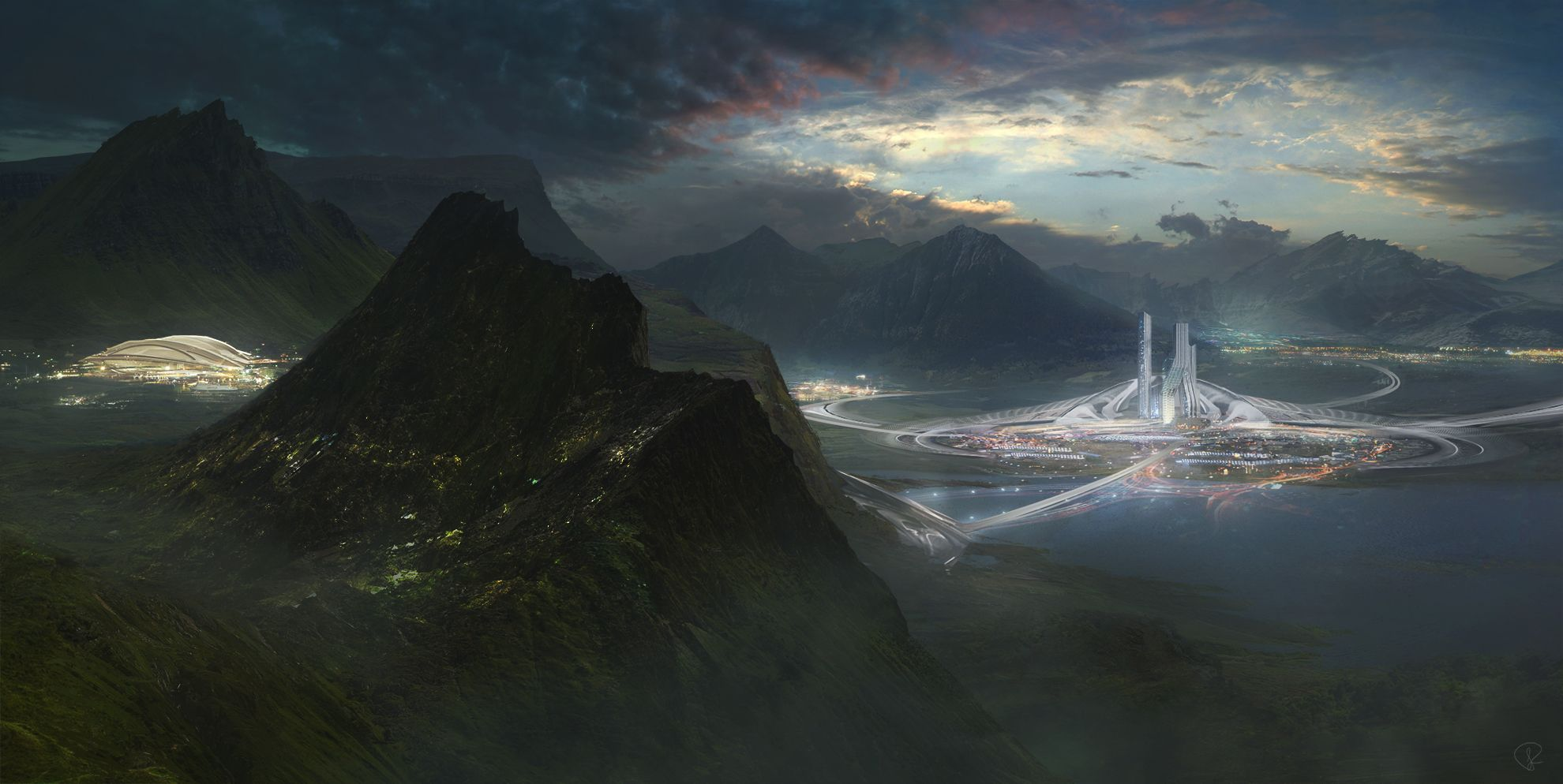 The lake city by JessicaRossier | Sci-Fi | 2D | CGSociety
