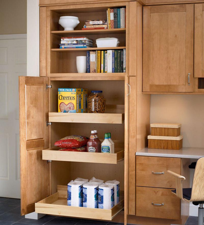Storage Solutions Details  High Back Rollout Tray  Kraftmaid Delectable Kitchen Storage Cabinets With Doors 2018