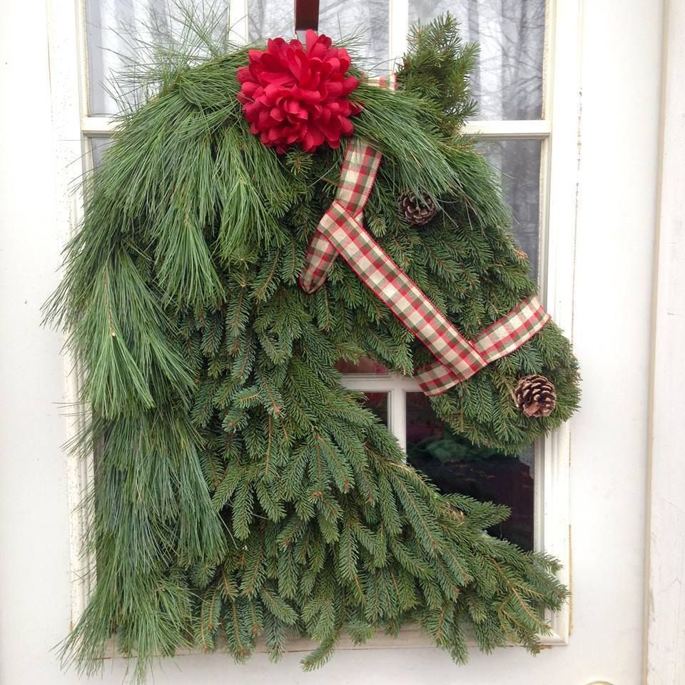 Horse Head Christmas Wreath