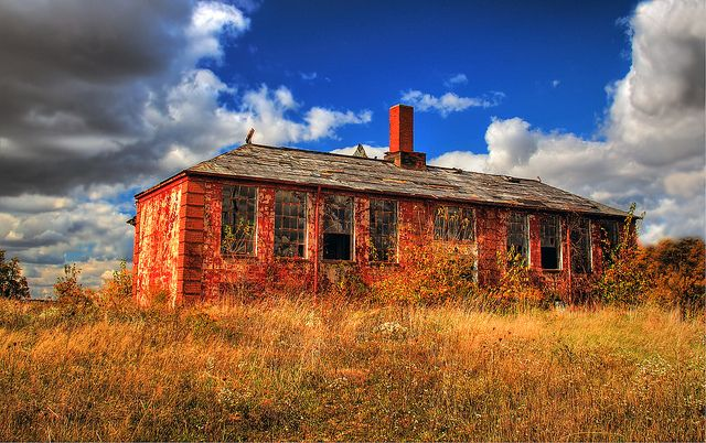 Abandoned Red Block Country School House