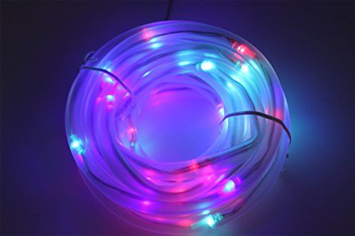 Solar Rope Lights 33ft Waterproof 100leds 12 V Portable With Light Sensor Outdoor Rope Lights Ideal For Christ Outdoor Rope Lights Solar Rope Light Rope Lights