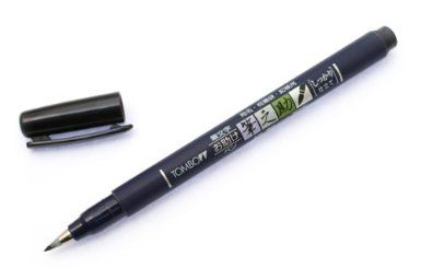 Tombow Fudenosuke Brush Pen - Hard - Blue Body