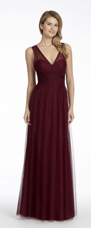 Burgundy english net aline bridesmaid gown all things bridal