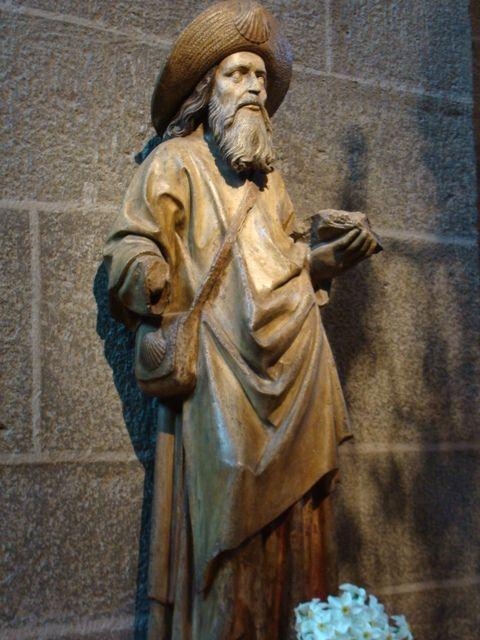 Statue de Saint Jacques.Cathédrale Notre-Dame-de-l'Annonciation du  Puy-en-Velay | Camino de santiago, Santiago de compostela, Santiago