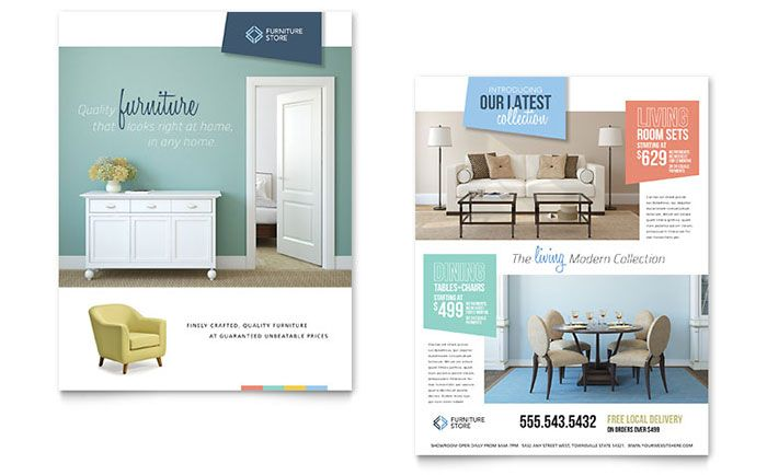 Home Furnishings Datasheet Template Design By Stocklayouts