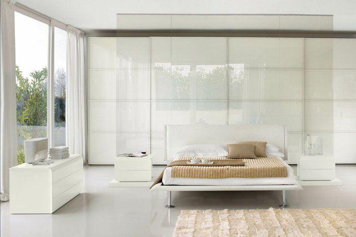 Schlafzimmer Einrichten Weise Mobel #18: Schlafzimmer Einrichten Beigenuancen Lange Luftige Gardinen