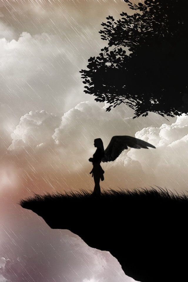 Iphone Wallpaper Angel Silhouette Angel Art Fallen Angel