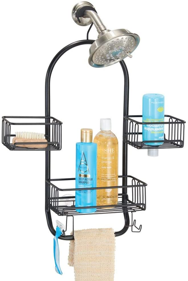 Amazonsmile Mdesign Modern Metal Wire Bathroom Tub Shower Caddy Hanging Storage Organizer Center 2 Bathroom Tub Shower Shower Tub Bathroom Shower Stalls