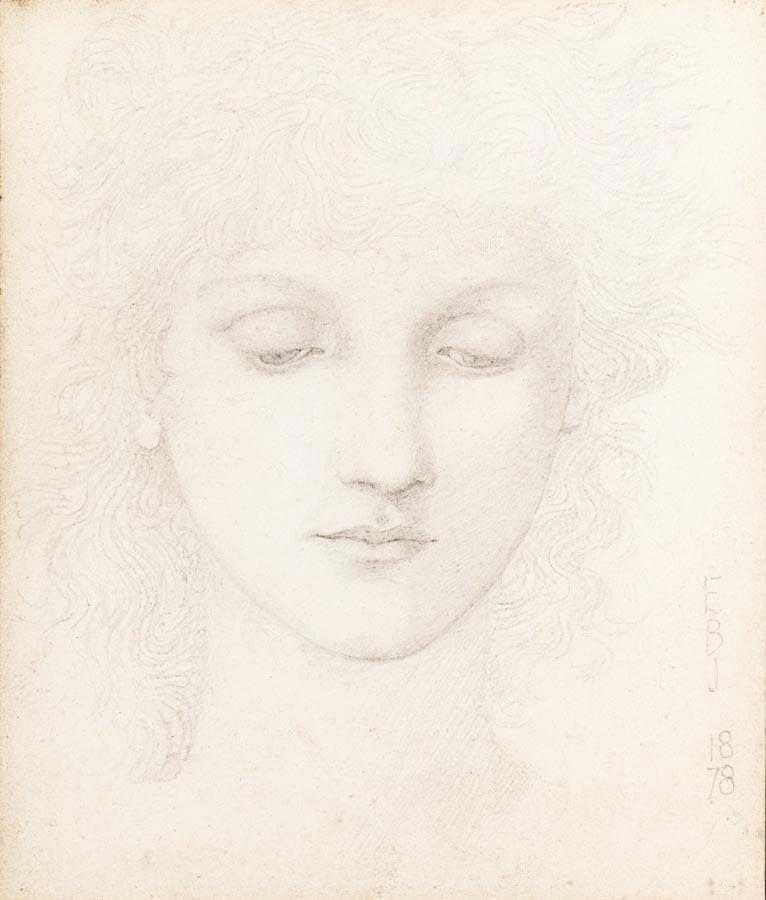 Head of a Girl ~ Edward Burne-Jones (1833-1898)