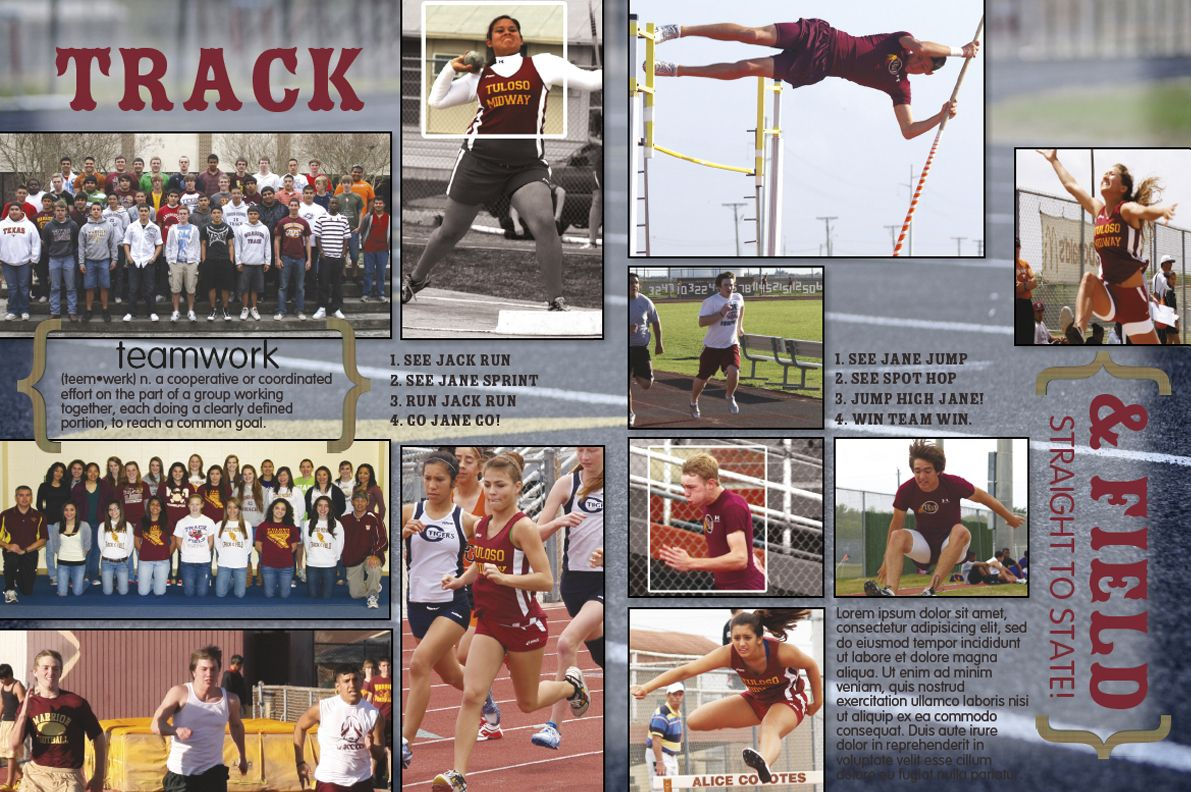 For track page | Pop Art Board | Pinterest | Yearbooks, Yearbook ...
