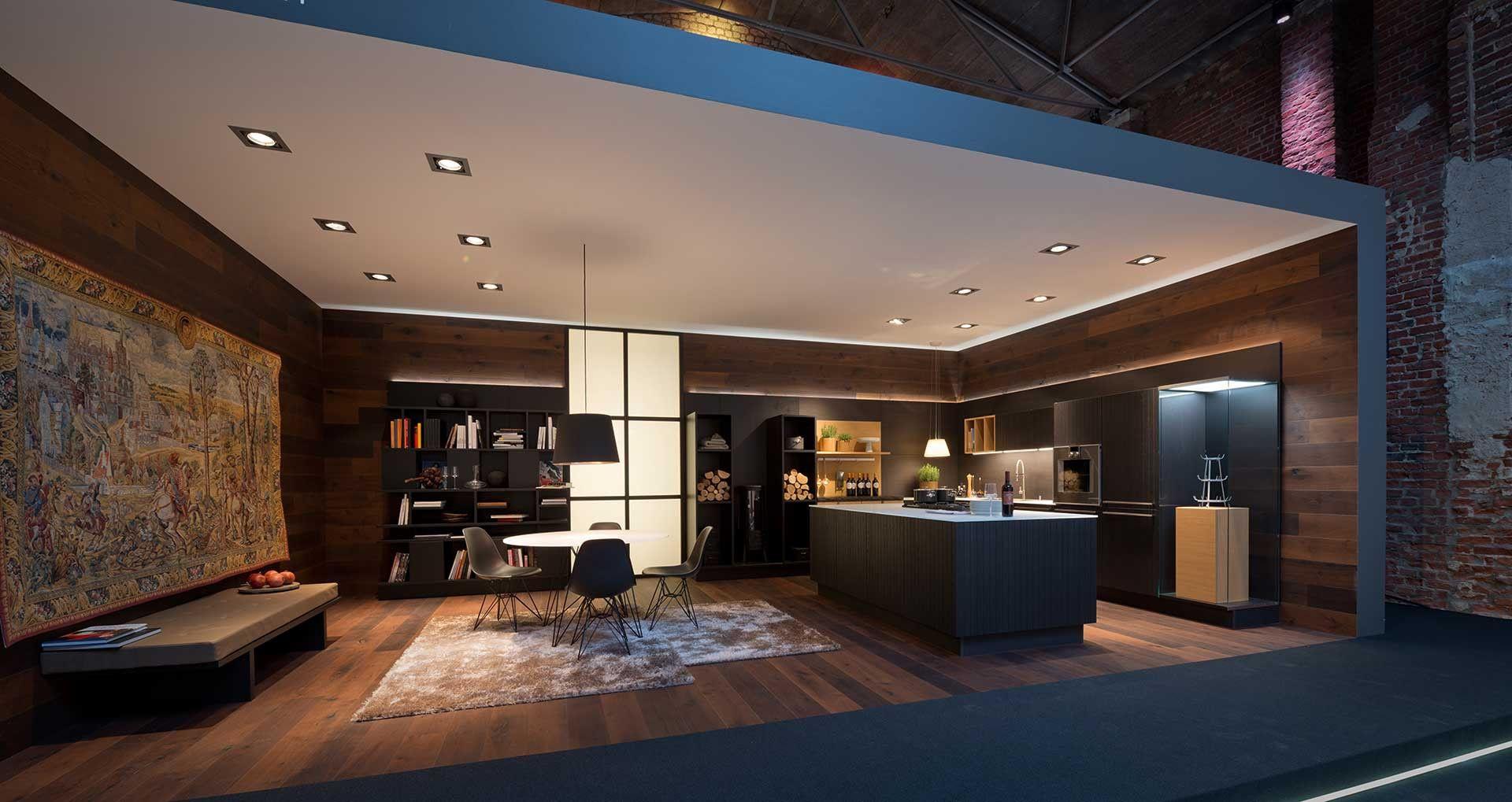 Loungegevoel in een moderne keuken. deze keuken straalt door zijn