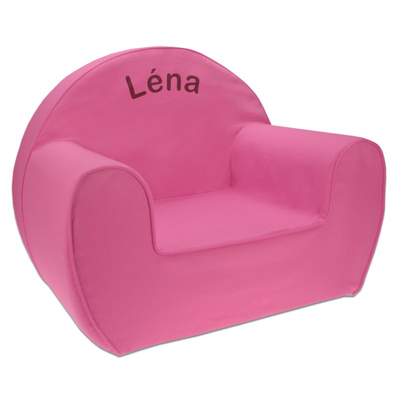 un joli petit fauteuil club pour une petite fille, avec son prénom