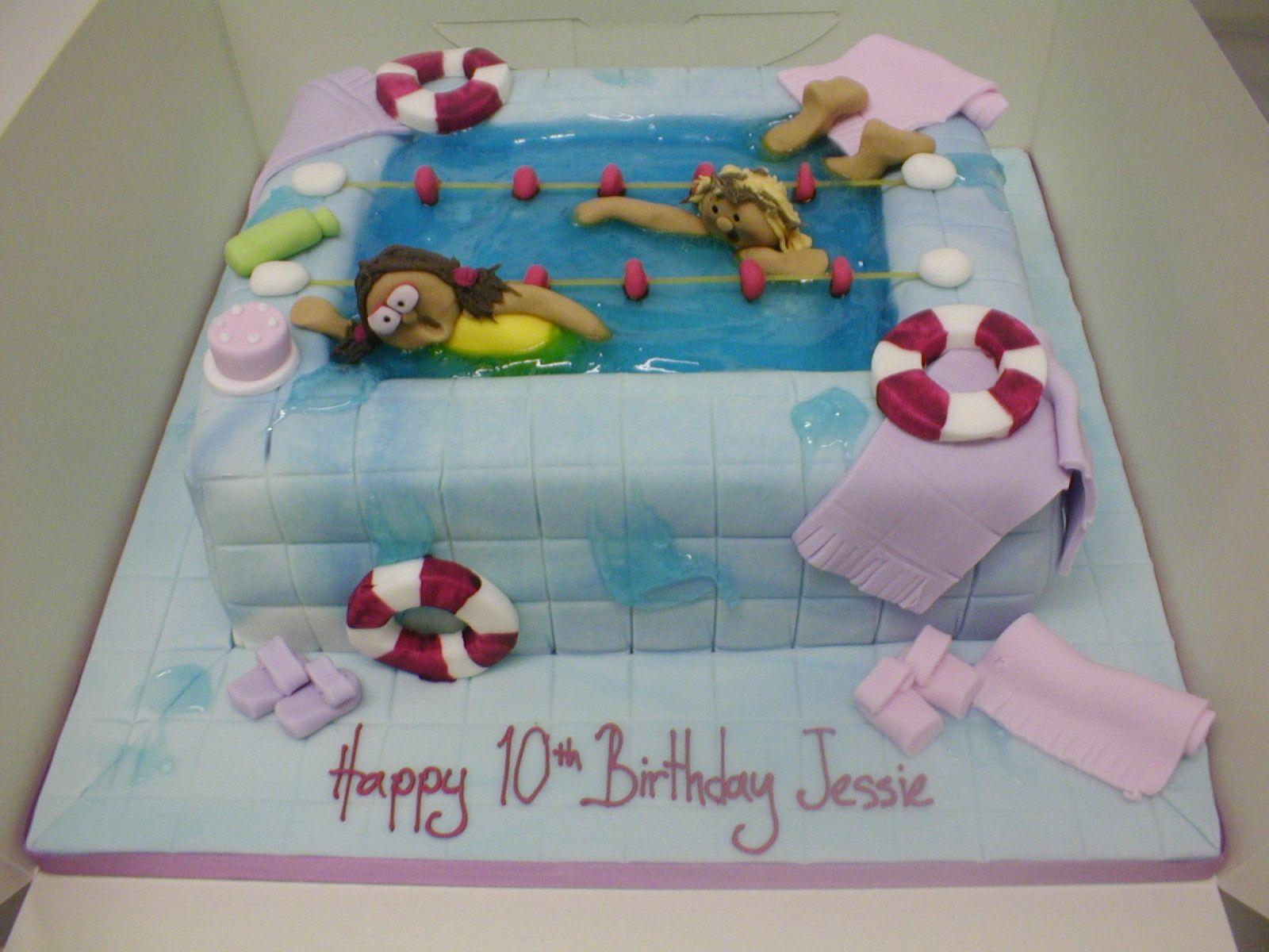 swimming pool cakes for girls swimming pool