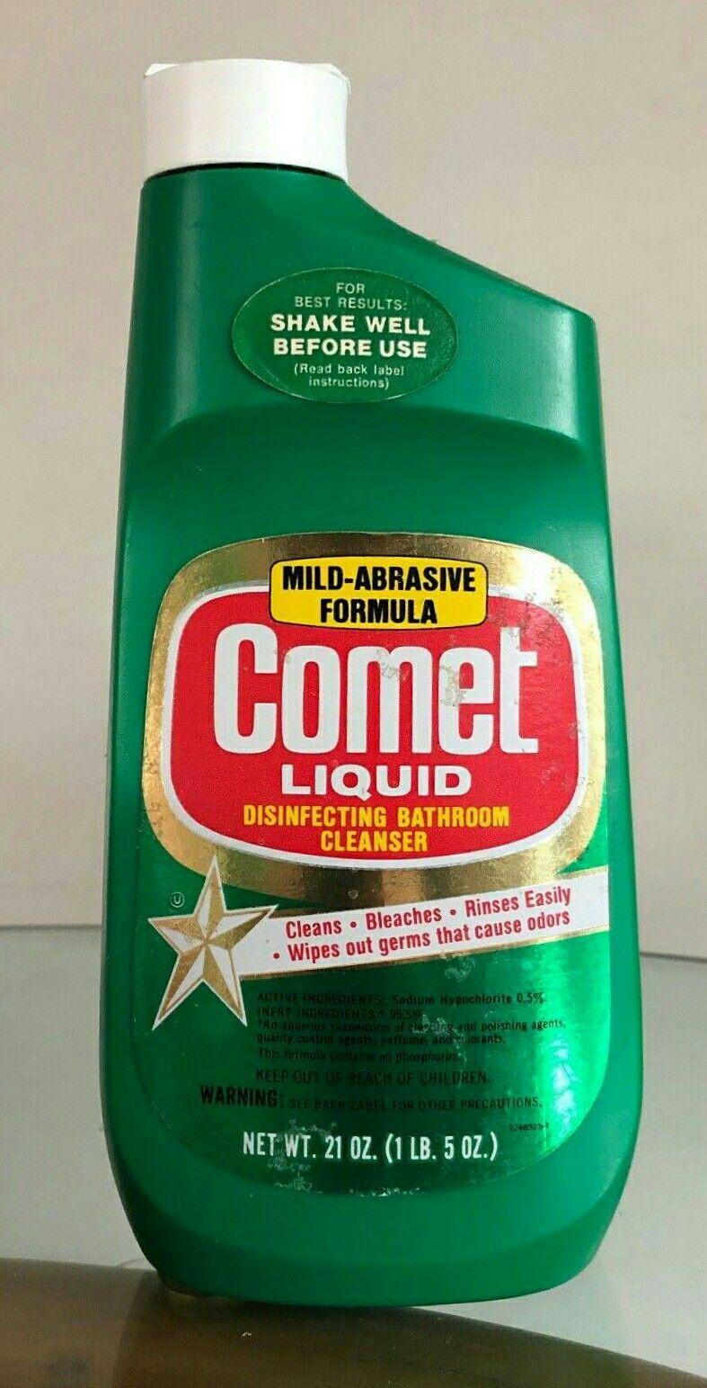 Vintage Comet Liquid Cleanser Bathroom Cleaner Best Cleaning