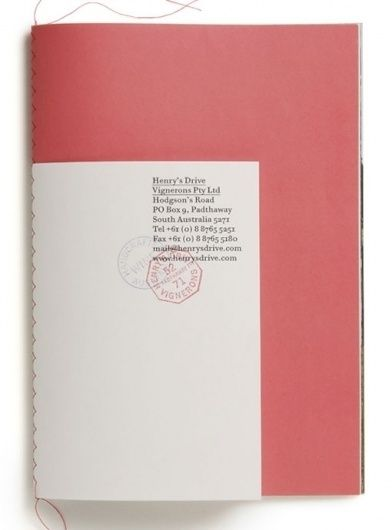 Design work life » Parallax: Henry's Drive Vignerons Identity in Book covers