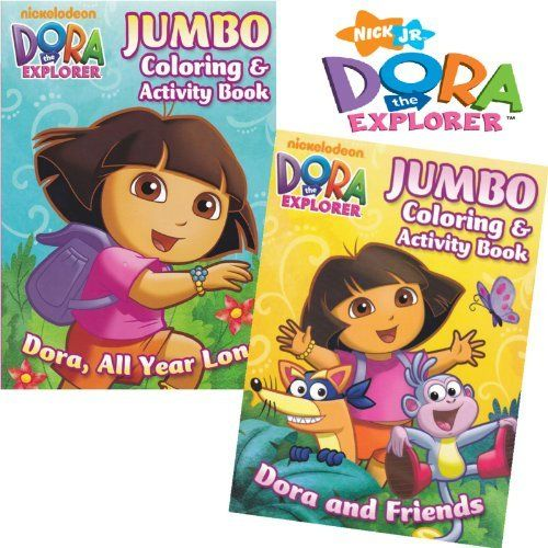 Dora The Explorer Coloring Book Set 2 Coloring Books By Nickelodeon 8 95 Great Gift For Your Favorite Dor Coloring Book Set Dora And Friends Dora Coloring