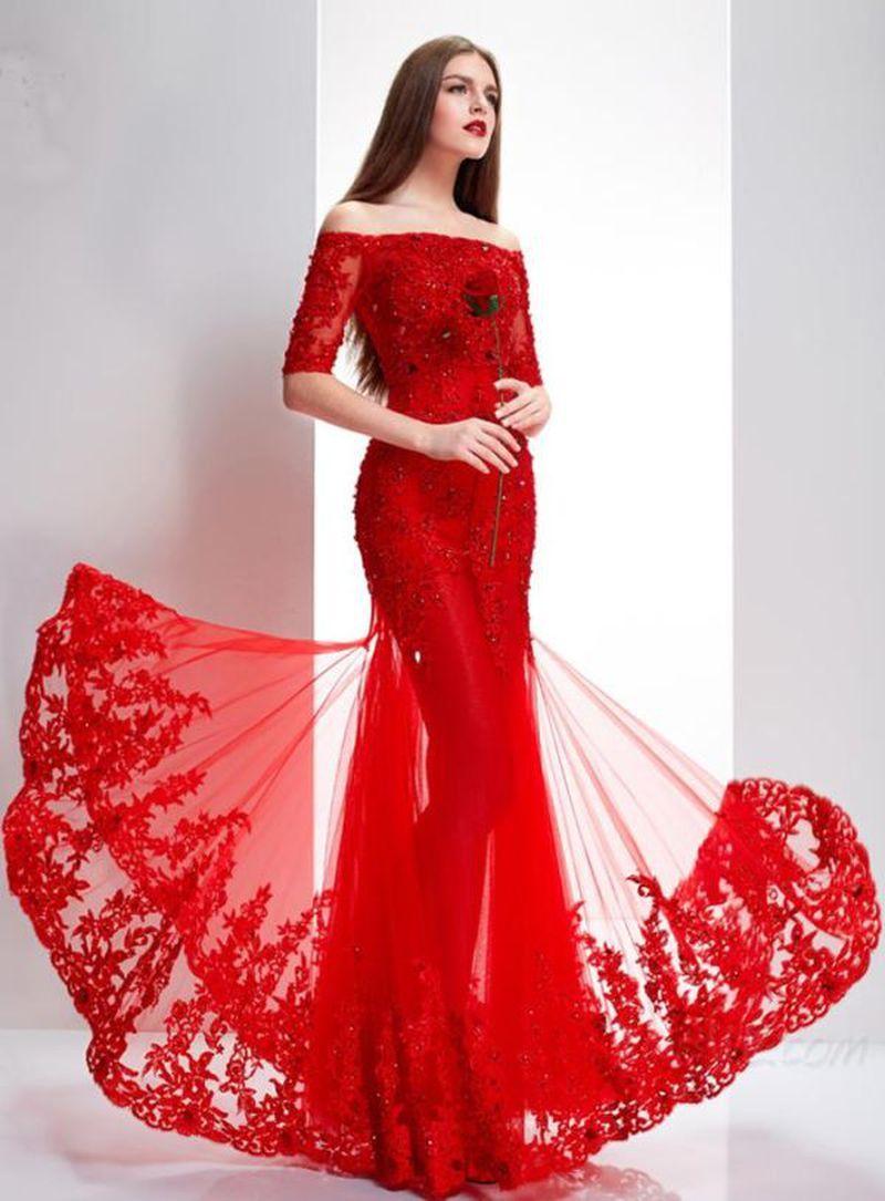فساتين سهرة للمناسبات اجمل الازياء الخاصة بالاحتفالات الخاصة احساس ناعم In 2020 Lace Party Dresses Evening Dresses Trendy Wedding Dresses