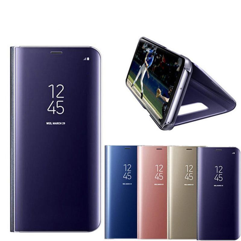 Luxury Smart Flip Mirror Phone Case For Samsung Galaxy Note 8 5 S8