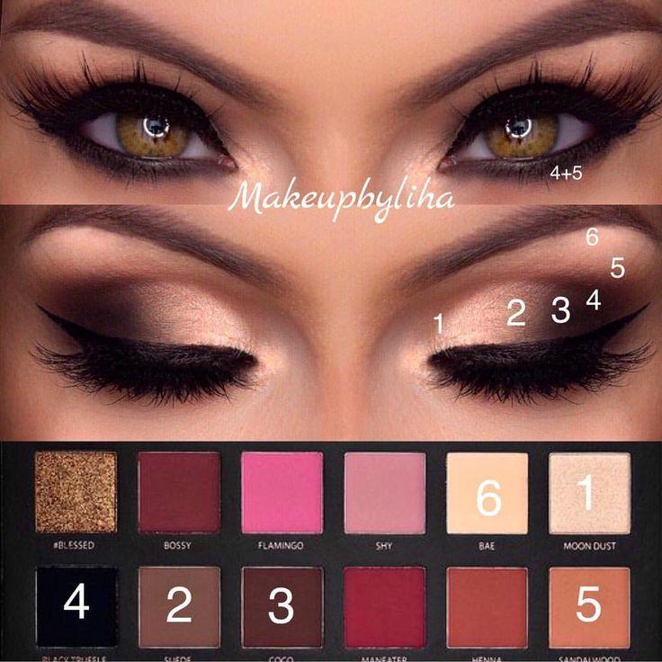 Photo of Huda Beauty rose gold palette #beauty #huda #rosegoldeyemakeup # rose gold palette #from