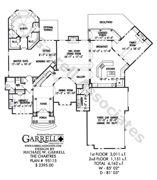 Chartres House Plan 95115 Garrell Associates Inc House Plans Chartres Floor Plans