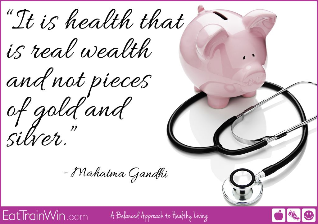 Health is Wealth...