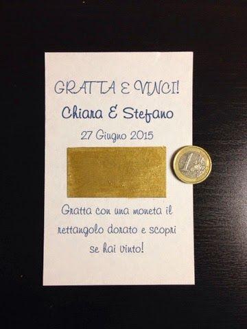 Segnaposto Matrimonio Gratta E Vinci.Una Bella Idea Per Il Vostro Matrimonio Eccola Gratta E Vinci
