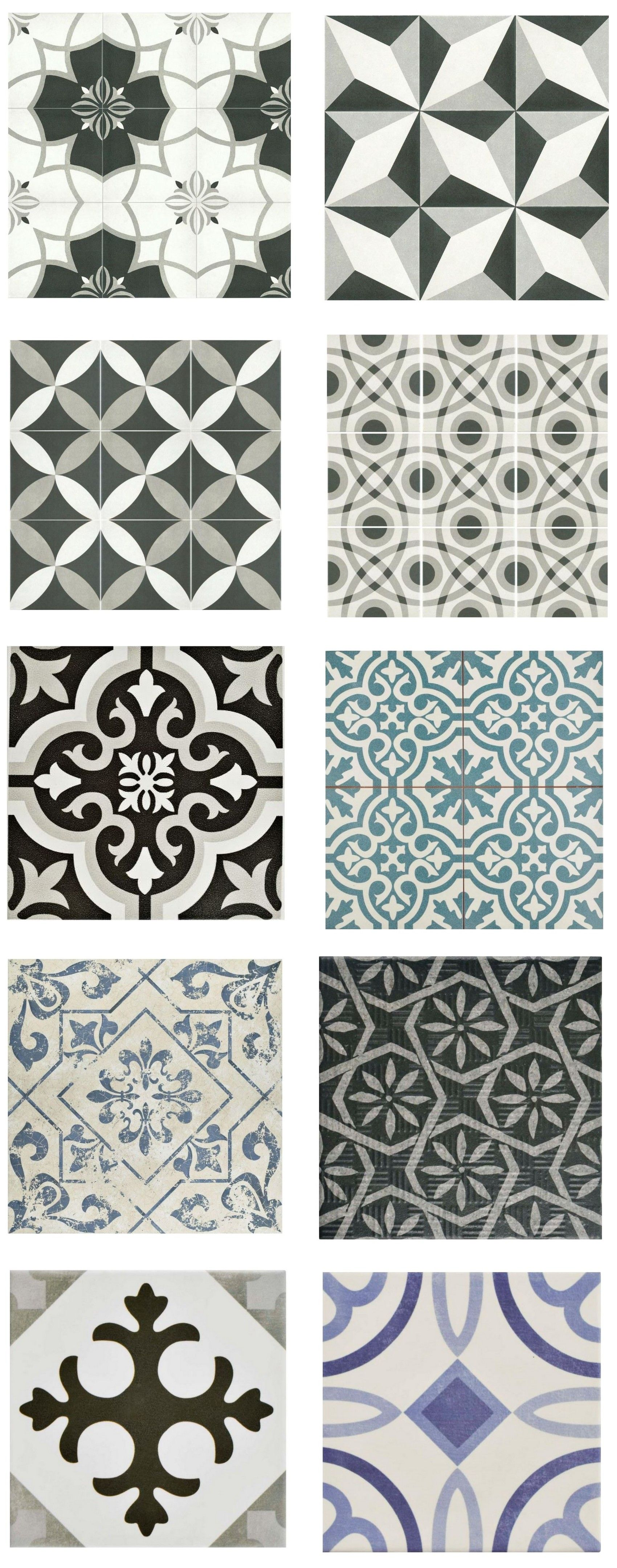 Cement look tile for less centsational girl textury pinterest cement look tile home depot porcelain and ceramic tiles that look like authentic encaustic cement tiles but for less money than youd pay for the real dailygadgetfo Image collections