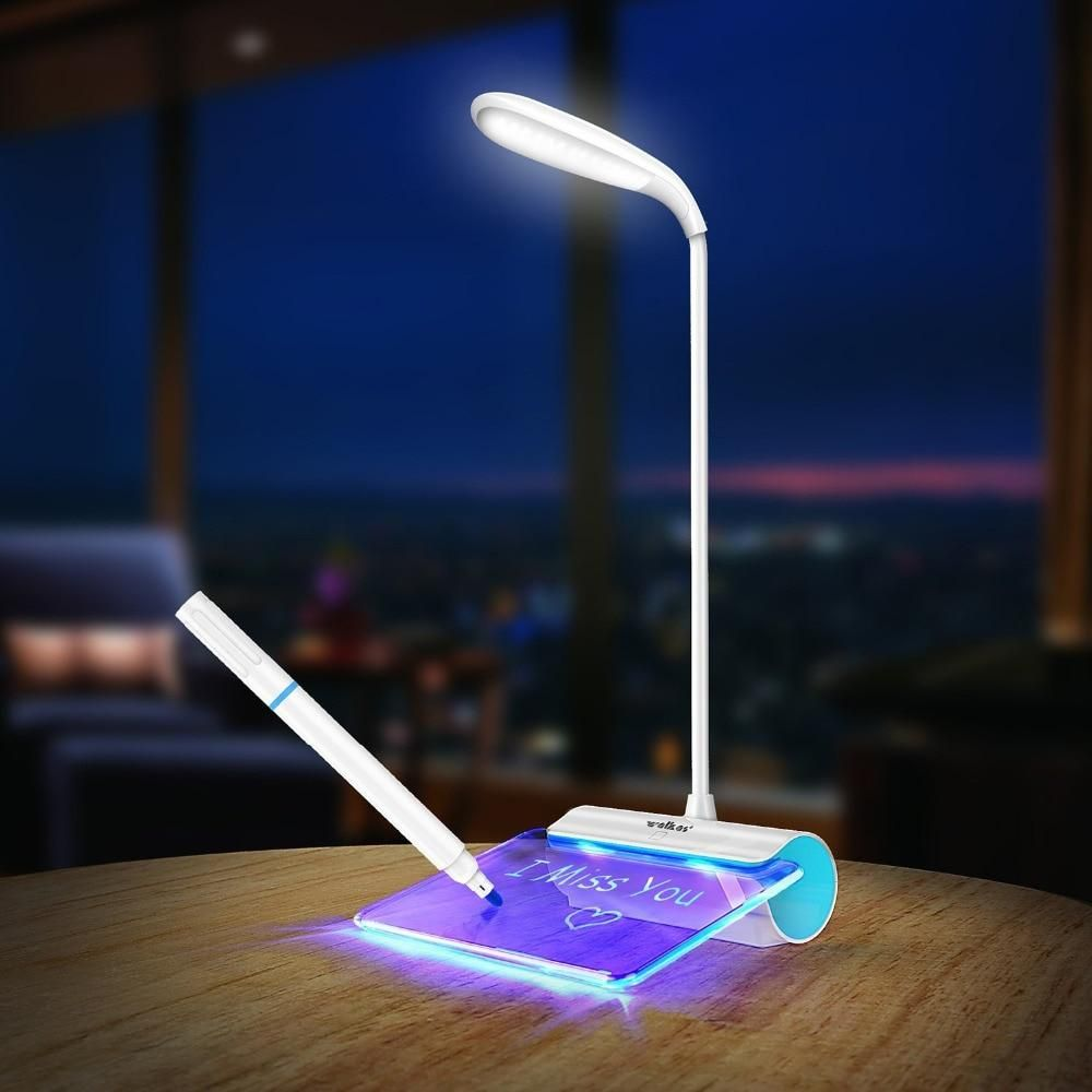 Newest Design Rechargeable Desk Lamp Led Light With Message Board Touch Switch Best Gift For Students Kids Led Desk Lamp Lamp Eye Desk Lamp